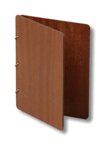 папка меню деревянная